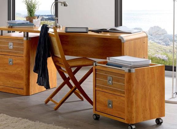 Rolcontainer nachttafel met 2 laden op wielen meubelen for Ladenblok wielen
