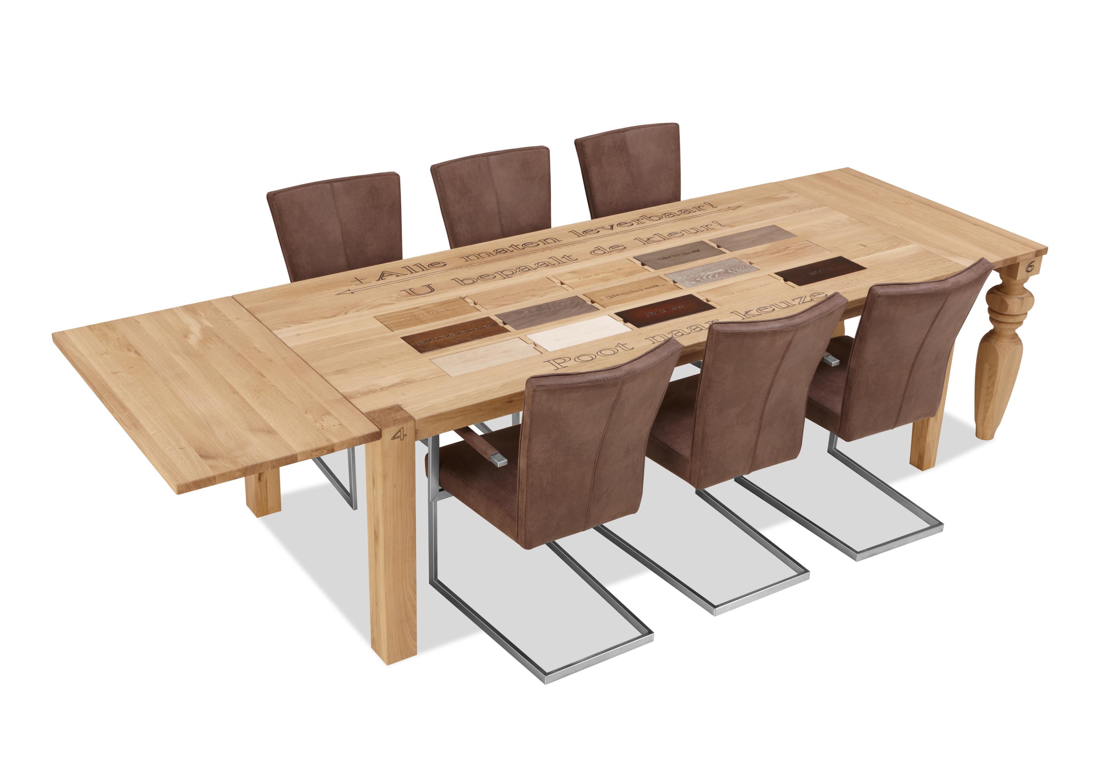 Massief eiken tafel trooper meubelen tilt de keizer for Eiken tafel