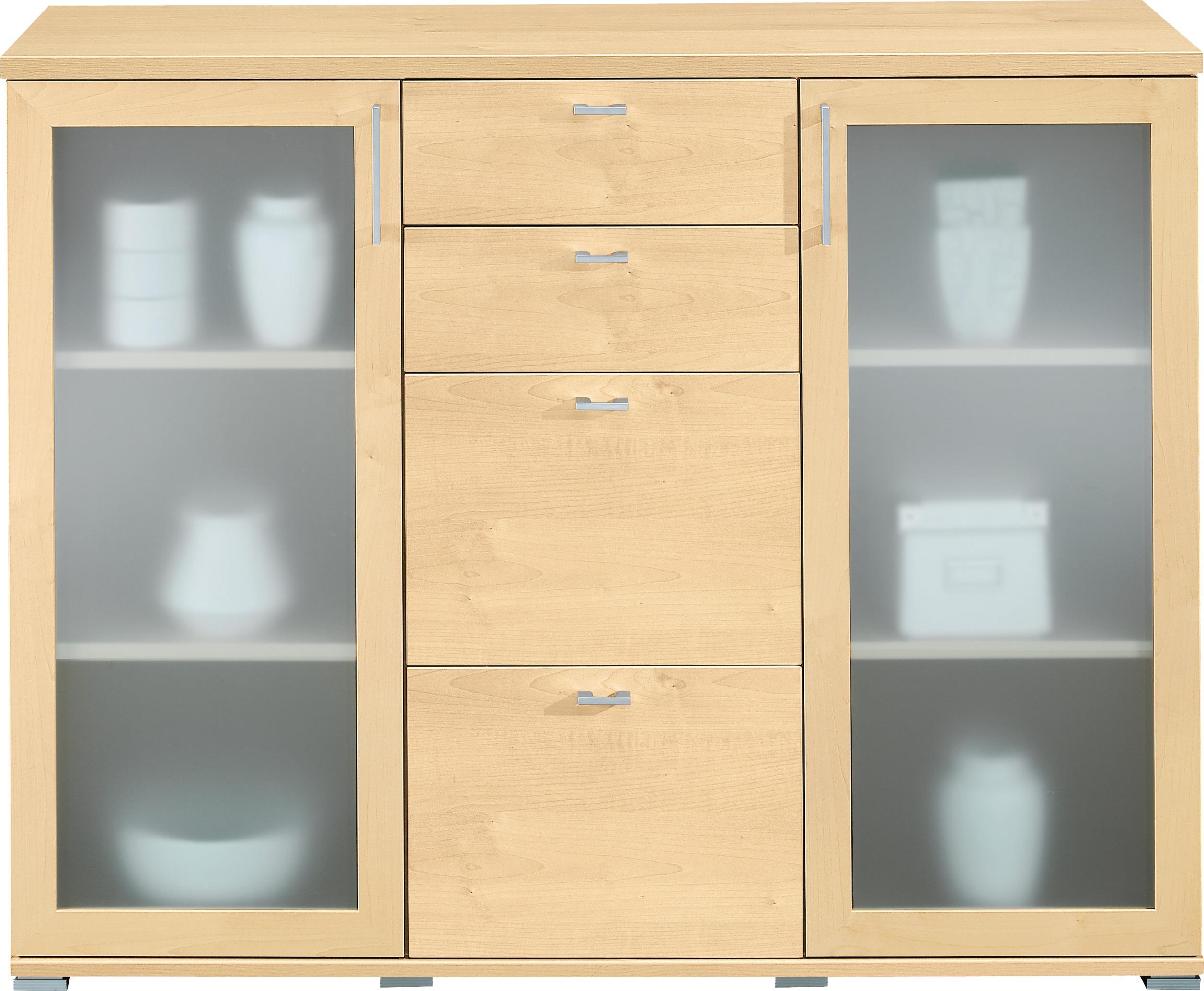 kommode 2 glasdeuren 4 laden 131cm meubelen tilt de keizer. Black Bedroom Furniture Sets. Home Design Ideas