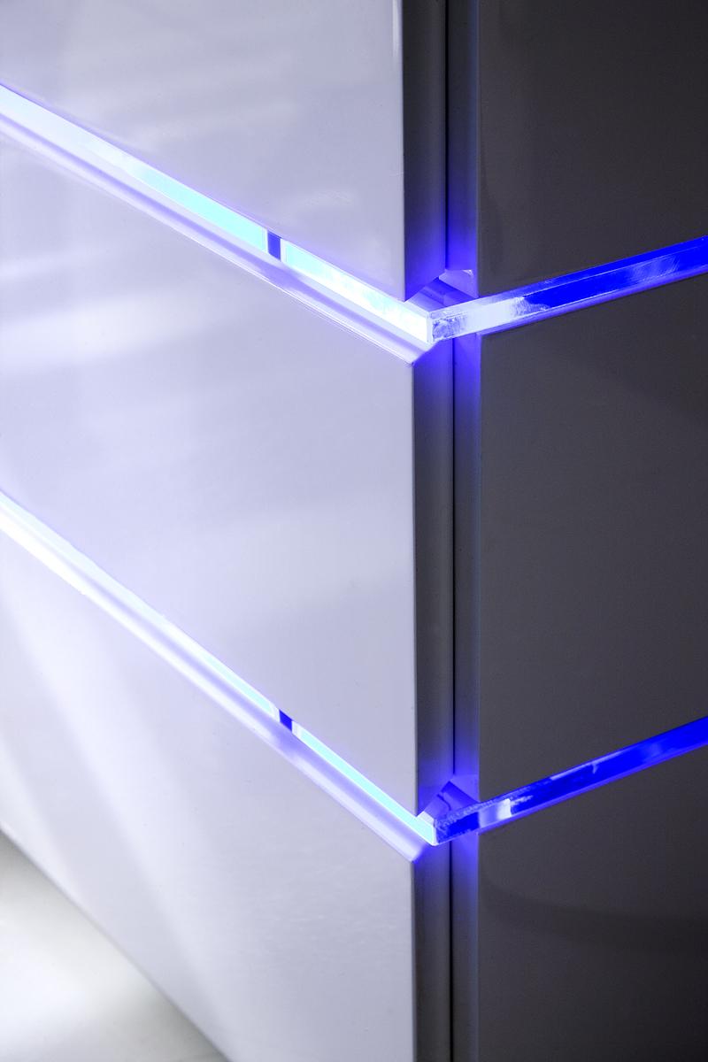 TV meubel Sonja HG wit + led verlichting blauw   Meubelen TilT De Keizer
