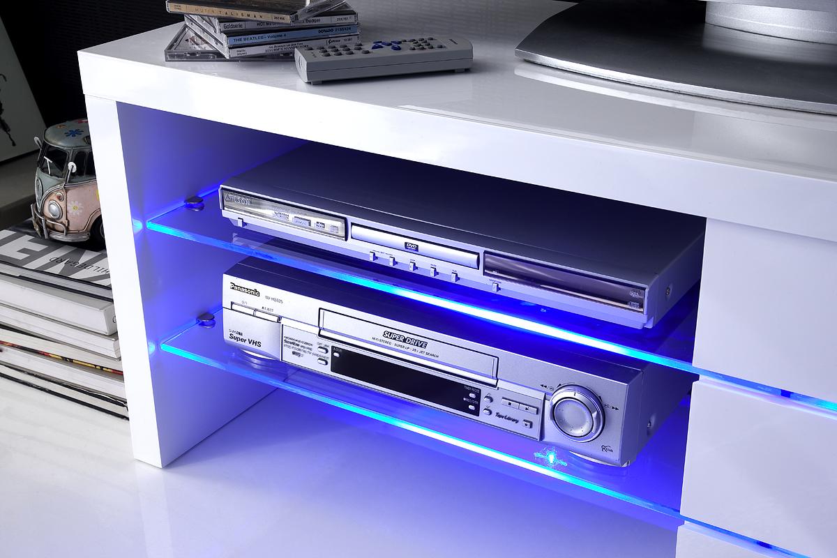 TV-meubel Sonja HG wit + led verlichting blauw  Meubelen TilT De ...