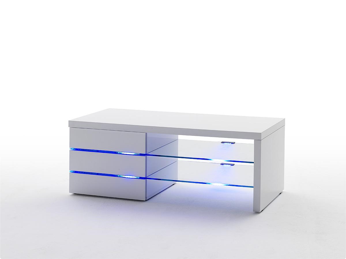 ... TV- / Media meubels › TV-meubel Sonja HG wit + led verlichting blauw