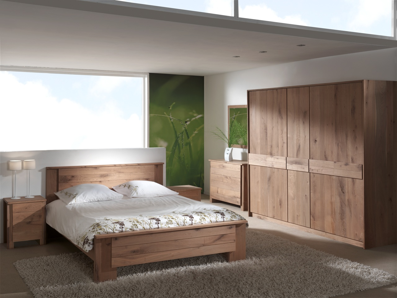 Slaapkamer eco line in gestoomd eiken meubelen tilt de for Meubles chambre a coucher contemporaine
