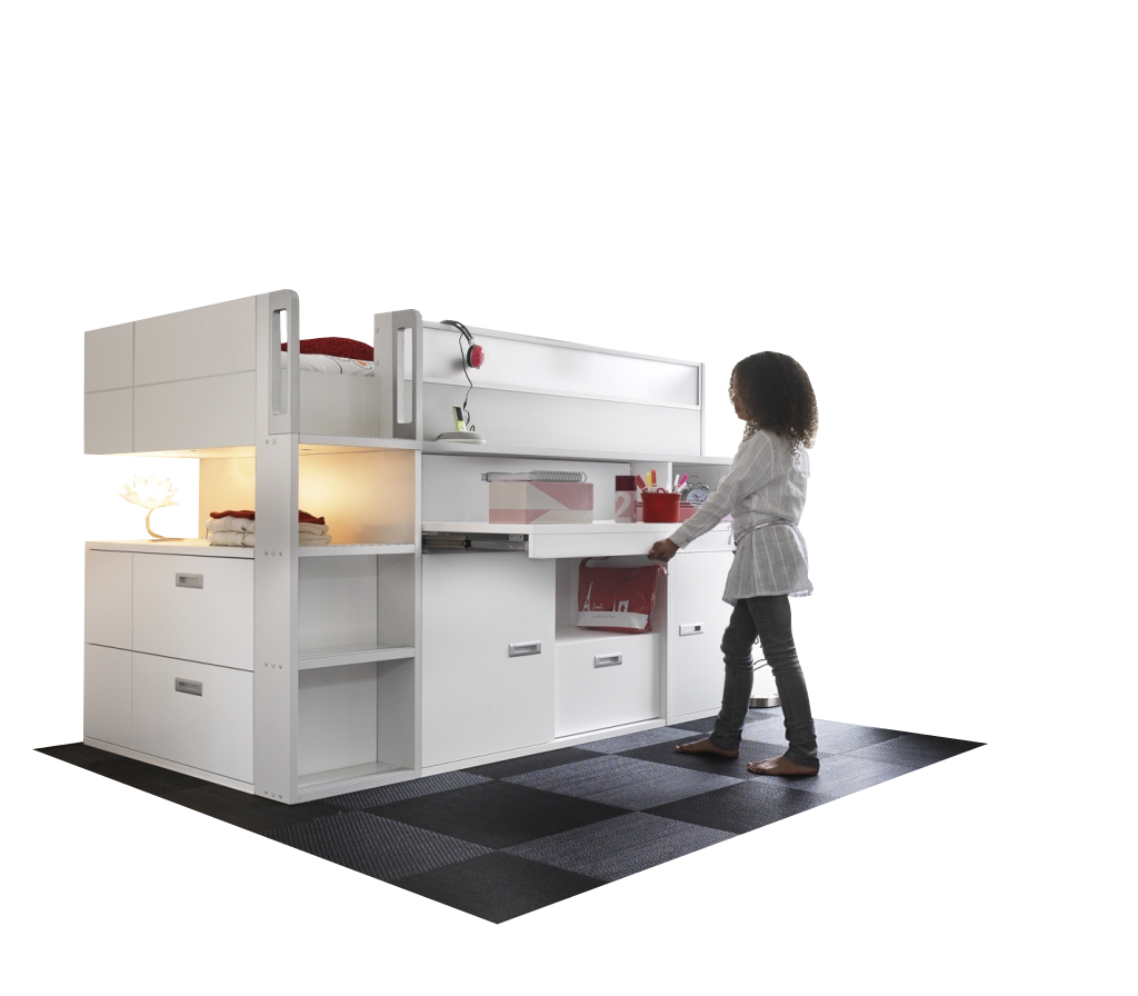 pin hoogslaper met kast en bureau hoge kinderbedden rechte of on pinterest. Black Bedroom Furniture Sets. Home Design Ideas