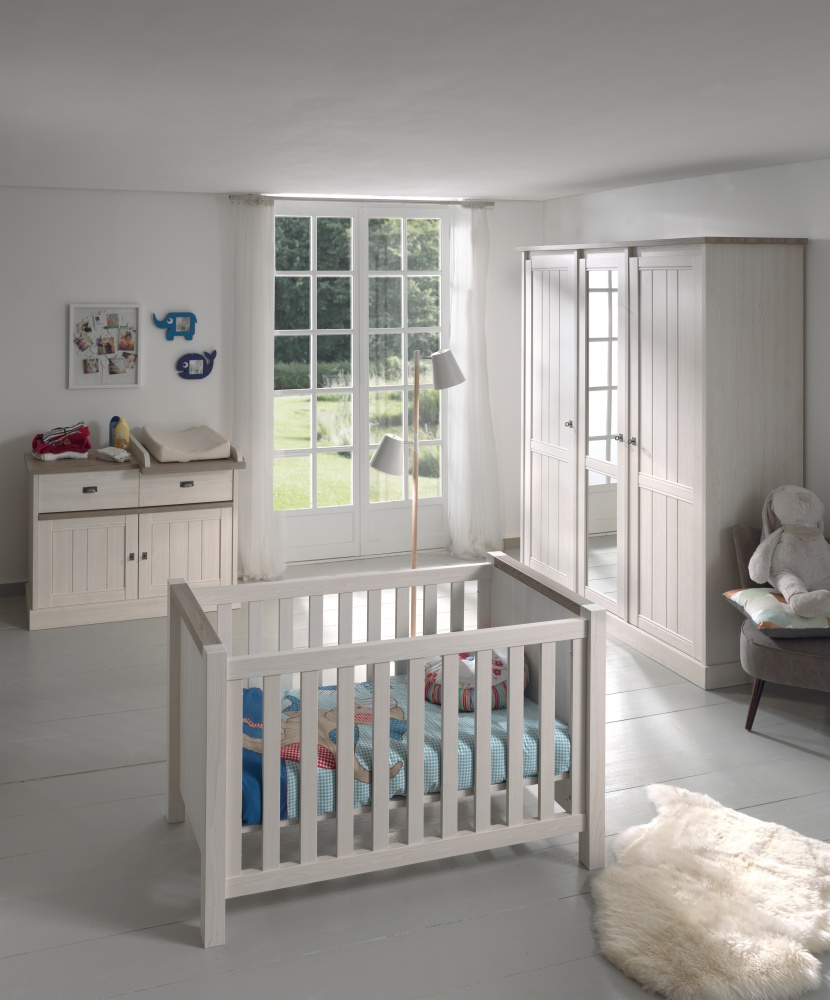Babykamer Meubels Baby Dump: Baby babykamer vittoria grijs - ledikant ...