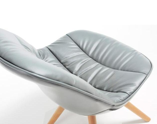 Lars chair natuurlijke houten poten pu verschillende kleuren meubelen tilt de keizer - Houten plastic stoel ...