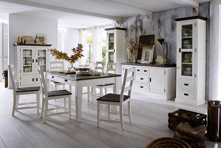 Tv-wand/eetkamer cottage stijl - Meubelen DE KEIZER - TilT