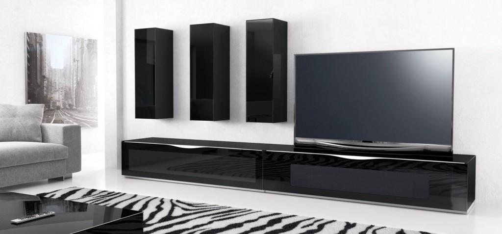 Tv meubel wand 125cm modena munari meubelen de keizer for Meuble tv next 04 de munari