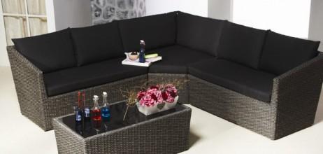 Loungeset savoy 4 delig meubelen de keizer tilt - Sofa vlechtwerk ...
