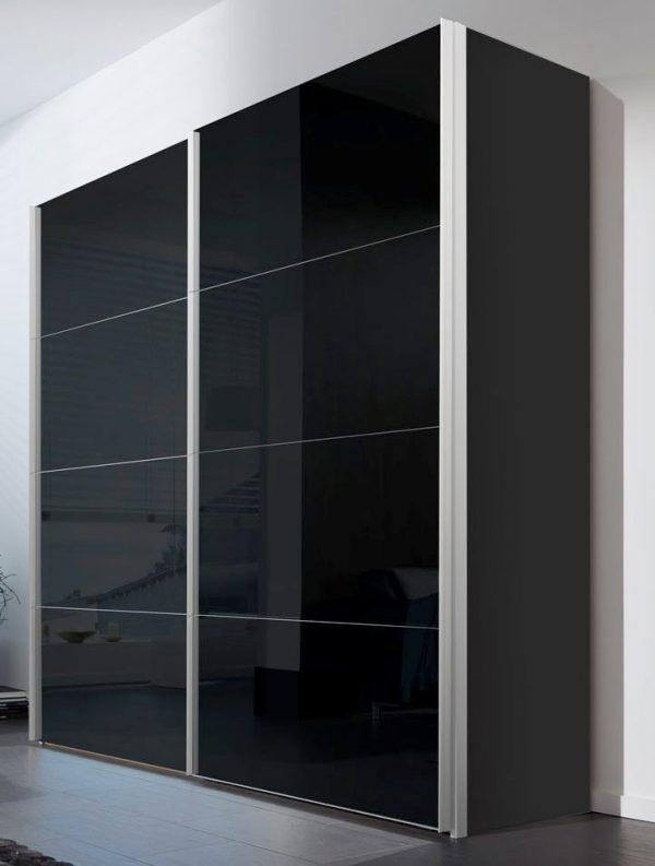 Schuifdeurkast Zwart Glas.Schuifdeurkast Mistral Glas Zwart 250cm Meubelen De Keizer