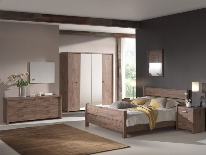 Slaapkamer isa scottisch pine of river eik meubelen de for Mobilier chambre adulte